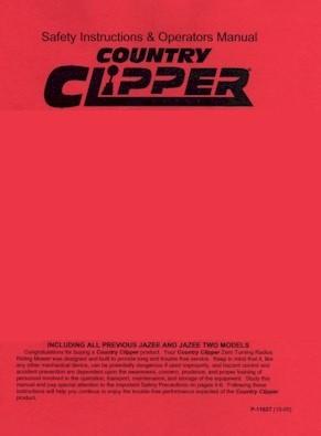 Operators Manual for Commercial Clipper 2203MT and 2503MT Mid-Deck Twinstick