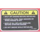 Decal, Caution Fuel P-12557