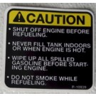 Decal Caution-shut off engine P-10939