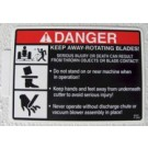 Decal, Danger-Rotating Blades P-10941